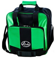 Linds Laser Basic Single Tote Black/Green Bowling Bags