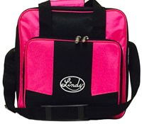 Linds Laser Basic Single Tote Black/Hot Pink Bowling Bags