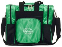 Linds Laser Deluxe Single Tote Black/Green Bowling Bags