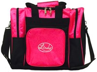 Linds Laser Deluxe Single Tote Black/Hot Pink Bowling Bags