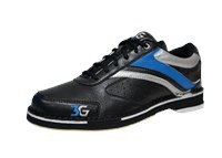 3G Mens Classic Pro Black/Blue/Silver Right Hand Bowling Shoes