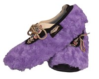Master Ladies Shoe Covers Fuzzy Lavender