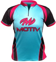Motiv Womens Radiant Jersey Black/Blue/Pink