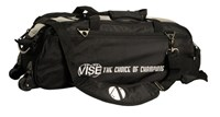 Vise 3 Ball Clear Top Roller/Tote Black Bowling Bags