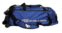 Vise 3 Ball Clear Top Roller/Tote Blue Bowling Bags