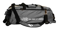 Vise 3 Ball Clear Top Roller/Tote Grey Bowling Bags