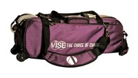 Vise 3 Ball Clear Top Roller/Tote Purple Bowling Bags