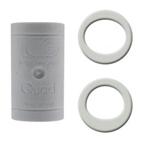 Turbo Grips Quad White Soft Power Lift/Oval Mesh Inserts