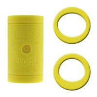 Turbo Grips Quad Yellow Soft Power Lift/Oval Mesh Inserts
