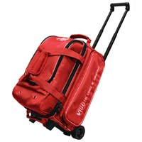 Vise 2 Ball Economy Roller Red Bowling Bags