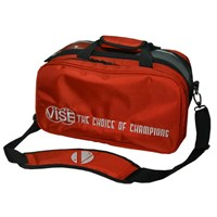 "VISE 2 Ball ""Clear Top"" Tote Plus Red Bowling Bags"