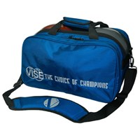 "VISE 2 Ball ""Clear Top"" Tote Plus Blue Bowling Bags"