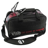 "VISE 2 Ball ""Clear Top"" Tote Black Bowling Bags"
