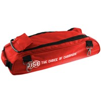 Vise 3 Ball Add-On Shoe Bag-Red Bowling Bags