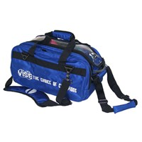 "VISE 2 Ball ""Clear Top"" Tote Roller Blue Bowling Bags"