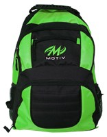 Motiv Zipline Backpack Black/Green Bowling Bags