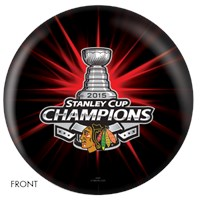OnTheBallBowling NHL 2015 Stanley Cup Champion Chicago Blackhawks Bowling Balls
