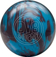 DV8 Outcast Blue Bruiser with Free Bag Bowling Balls