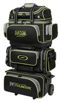 Storm Rolling Thunder 6 Ball Roller Black/Grey/Lime Bowling Bags