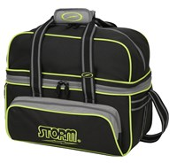 Storm 2 Ball Deluxe Tote Black/Grey/Lime Bowling Bags