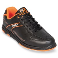 KR Strikeforce Mens Flyer Black/Orange Bowling Shoes