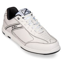 KR Strikeforce Mens Flyer White/Black Bowling Shoes