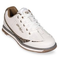 KR Strikeforce Womens Curve White/Leopard Bowling Shoes