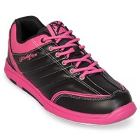 KR Strikeforce Womens Diamond Black/Hot Pink Bowling Shoes