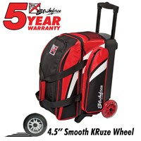 KR Cruiser Smooth Double Roller Red/White/Black Bowling Bags