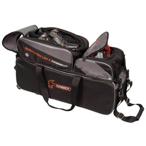 Hammer Premium Deluxe Triple Tote w/Removable Pouch Black/Carbon Core Image