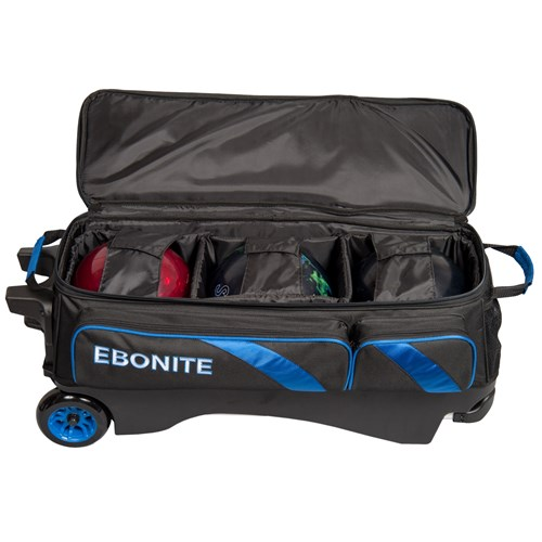 Ebonite Equinox Triple Roller Black/Blue Core Image
