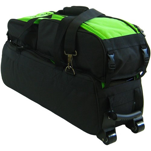 Tenth Frame Triple Tote/Roller Plus Black/Lime Core Image