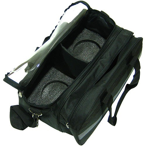 Elite 2 Go Tote Clear Top Plus Black/Grey Bowling Bag Core Image