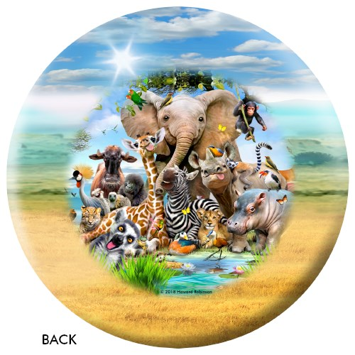 OnTheBallBowling African Animals Ball Core Image