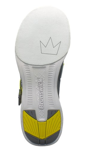 Brunswick Mens Slingshot Grey/Yellow Core Image