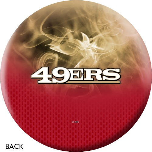 KR Strikeforce NFL on Fire San Francisco 49ers Ball Core Image