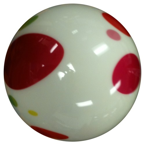 Exclusive White Polka Dot Viz-A-Ball Core Image