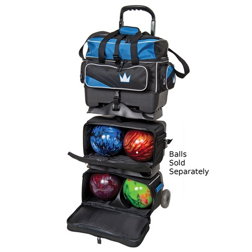 Brunswick Team Brunswick 6 Ball Roller Black/Cobalt Core Image