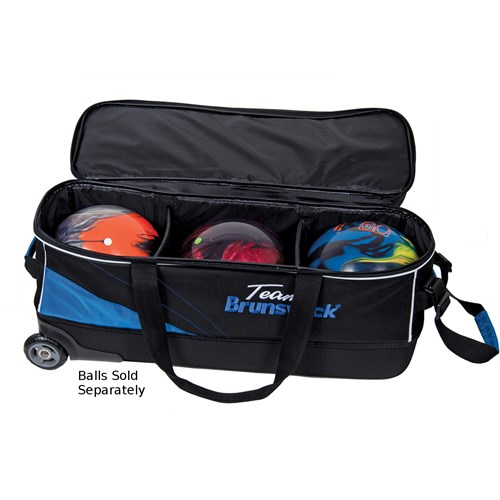 Brunswick Team Brunswick Slim Triple with Shoe Pocket Black/Cobalt Core Image