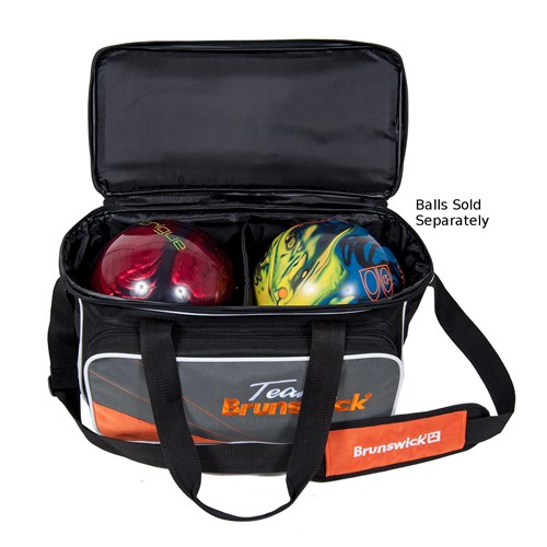 Brunswick Team Brunswick Deluxe Double Tote Slate/Orange Core Image