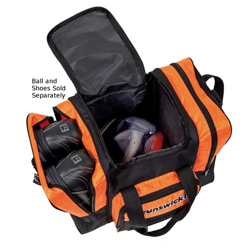 Brunswick Flash Single Tote Black/Orange Core Image