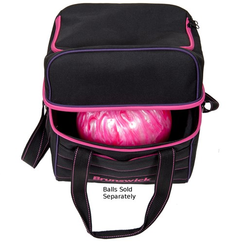Brunswick Kooler C Single Tote Black/Pink/Purple Core Image