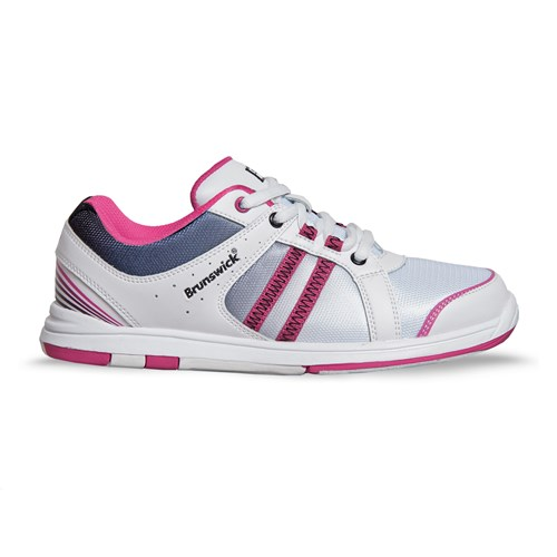 Brunswick Womens Sienna White/Black/Hot Pink Core Image