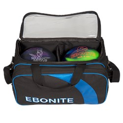 Ebonite Equinox Double Tote Black/Blue Core Image