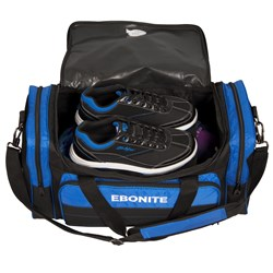 Ebonite Conquest Double Tote Black/Blue Core Image