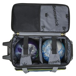 Brunswick Crown Deluxe Double Roller Navy/Lime Core Image