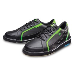 Brunswick Mens Punisher Right Hand Wide Width Black/Neon Green Core Image