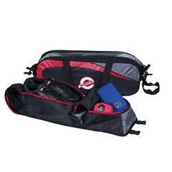 Ebonite Players 3 Ball Tote w/ Shoe Pouch Black/Red Core Image