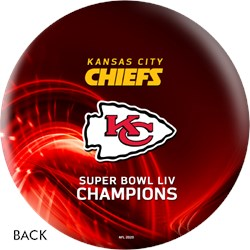 OnTheBallBowling 2020 Super Bowl 54 Champions Kansas City Chiefs Ball Red Core Image