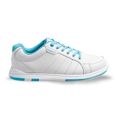 Brunswick Womens Satin White/Aqua Core Image
